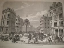Southwark Street Borough London looking west 1865 old print ref T