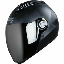 Steelbird Air Sba-2 Full Face Motorcycle Dashing Black Silver Visor Helmet-Large
