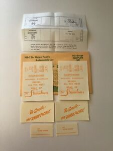 Champ Decals HO Scale HB-156: Union Pacific UP Automobile Car H-3