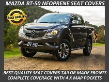 MAZDA BT-50 MK2 UR FRONT NEOPRENE SEAT COVERS COMPLETE COVERAGE- MAP POCKETS X 4