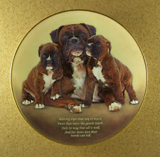 Cherished Boxers Adoring Eyes Plate Danbury Mint Tails To Way That All Is Well