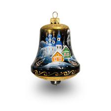 Bell (Starry night series) - Hand blown glass figurine - Christmas tree ornament
