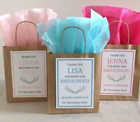 Personalised Vintage Brown Paper Favour Bags/Gift/Wedding/Hen/Christening/Party
