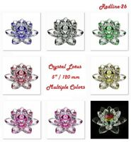 """Decorative Crystal Lotus Paperweight Decor Multiple Colors ( 5"""" / 120 mm )"""