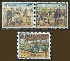 LAOS N°1019/1021** Plantation d'arbres TB, 1991 Planting trees Sc# 1049-1051 MNH