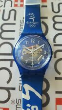 Swatch Glorious Blue GN182 1999 Standard Gents 34mm Sydney 2000 Olympic Special