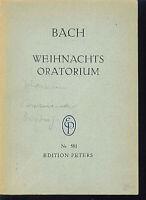 Bach : Weihnachts-Oratorium  ~ Studienpartitur