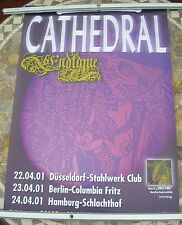CATHEDRAL Endtyme 2001 tour poster 33 x 23  original