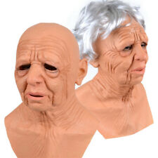 HALLOWEEN MASQUERADE PARTY REALISTIC OLD MEN LATEX FACE COVER HEADGEAR COSTUMES