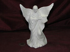 Ceramic Bisque Small Angel with a Harp U Paint Ready to Paint