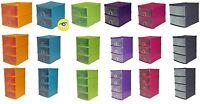 2,3,4,5 Tier Small Plastic A5 Handy Drawer Storage Unit Desk Cabinet Rack Tidy