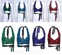 Women's Bra Bikini Mermaid Fish Scale Print Fitness Strappy Savage Wrap Crop Top