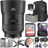 ZEISS Batis 40mm f/2 CF Lens for Sony E w/Advanced Photo and Travel Bundle