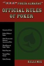 The Game Day Poker Almanac Official Rules of Poker (Paperback or Softback)