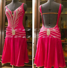 U4201 Ballroom women chacha salsa Latin samba dance Elegant dress Custom made