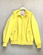 RARE Men's BARACUTA G9 Harrington Bomber Coat Jacket England Yellow Cotton SZ L