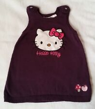 Robe mailles prune Hello Kitty bébé fille 12 MOIS H&M
