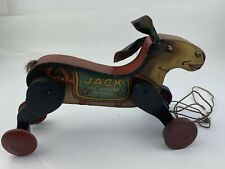 ANTIQUE ALL-FAIR JACK THE KICKING DONKEY PULL-TOY