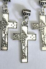 Jesus Christ Cross Crucifix Silver tone charm pendant