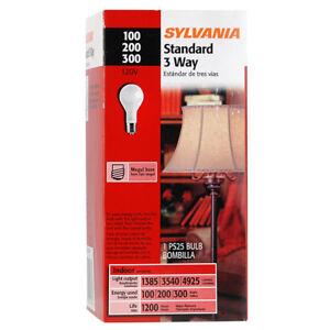 Sylvania Mogul Base 3-Way Light Bulbs PS25 100/300 Watt Incandescent Lamp 14374
