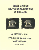 1941 World War II 6th Marine Regt 1st Provisional Brigade Polar Bear Patch Book