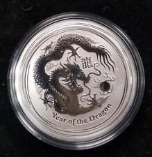 .999 Silver 1/2 oz. Coin | 2012 Australia 50 cents | Dragon, Lunar Series 2