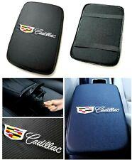 UNIVERSAL CADILLAC Carbon Fiber Car Center Console Armrest Cushion Pad Cover