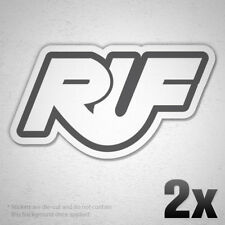 "(2x) 4.5"" RUF Logo Vinyl Sticker Decal Car Window Tunning Porsche 911 Tune"