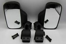 "2 x UTV Side Mirrors 1.75"" & 2"" Clamps Polaris Ranger RZR 800 900 1000 CAN-AM"