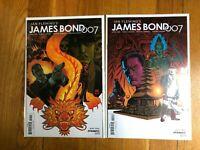 Lot of 2 James Bond 007 Volume 3 #1 2 Dynamite Entertainment (2018)
