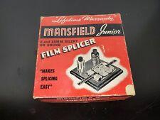 Mansfield Junior Film Splicer in Original Box (8 or 16 MM Film)