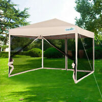 Upgraded Quictent 10x10 Ez Pop Up Canopy with Netting Sides Screen House Tent