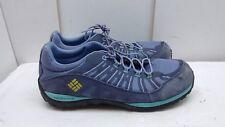 Columbia Techlite OmniGrip Blue Leather Athletic Sneakers Shoes Men 7 Women 8.5