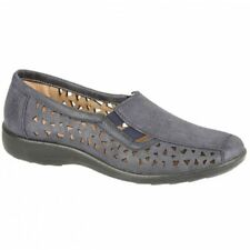 Boulevard MARSHA Womens Ladies Cut-Out Slip-On Comfy Soft Summer Shoes Navy Blue