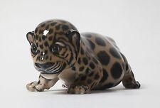 Porcelain figurine * Jaguar cub *. Denmark, Royal Copenhagen #4659.