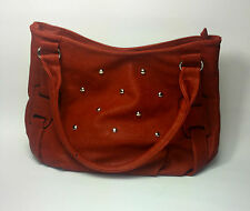 WOMENS BAG BROWN CAMAL LEATHER STUDS UK FAST POSTAGE NEW  QUILTED CHAIN