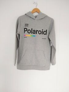 Old Navy Boys Pop Culture Polaroid Camera Pullover hoodie size XL 14/16 gray New