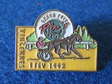 Vintage Enamel Badge - Horse Racing Grand Prix - Vincennes 1992
