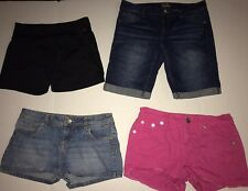 LOT OF 4 GIRLS SHORTS SIZE 16 ALL JUSTICE Back To School Pink Denim Athletic