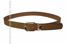 Belt With Metal Golden Buckle Faux Leather Ladies Waistband Size 8-14 SB691
