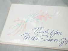 New Hallmark Baby or Bridal Thank You for the Shower Gift Cards Set 8 Count!