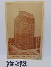 VINTAGE POSTED POSTCARD STAMP 1909 CHICAGO IL. ILLINOIS MASON-MASONIC TEMPLE