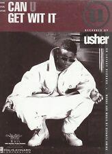 Can U Get Wit It - Usher - 1994 US Sheet Music