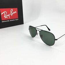 NEW ITEM! Ray-Ban RB 3026 L2821 Aviator Large Sunglasses Black Frame 62 mm G-15