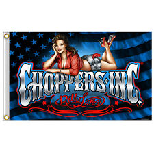 Choppers Inc Billy Lane American Pinup Motorcycle Biker Flag Wall Banner #1005