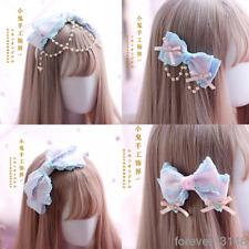 Powder Blue Japanese Hair Pin Lolita Hair Accessories Sweet Kawaii Bow Headwear