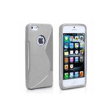 Étuis, housses et coques gris Apple en silicone, caoutchouc, gel pour téléphone mobile et assistant personnel (PDA)