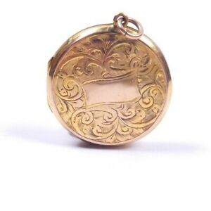 Rose Gold Locket Antique 9 carat back and front patterned