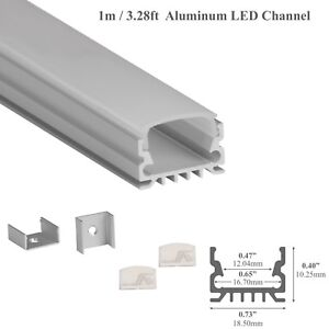 LEDPROFILES Aluminum Channel 3.28ft/1Meter 967 Extrusion Profile for LED Strips