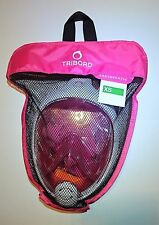 AUTHENTIC Tribord Easybreath® Snorkeling Mask in PINK, Kids' size XS, SUPERB!